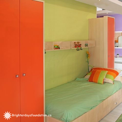 colourful youth bedroom