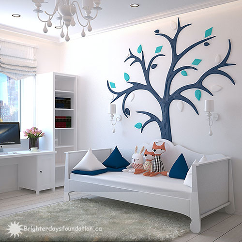 Tree decal and daybed