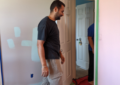 Interior paint for Charlee's Bedroom Makeover by the Clarke Construction Projects Dream Team