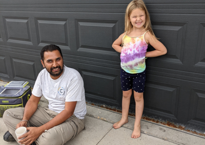 charlee with aman from clarke construction projects