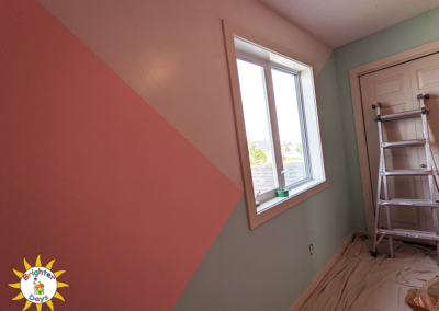 finished paint job for charlee's bedroom makeover