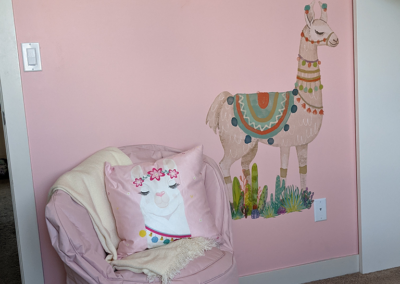 pink bedroom by brighter days foundation